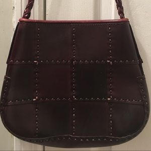 Vintage Genuine Italian Leather Brown Purse Bag